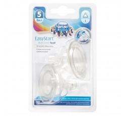 Соска силиконовая переменный поток для бутылочек с широким горлышком Easystart, 2шт - 21/734