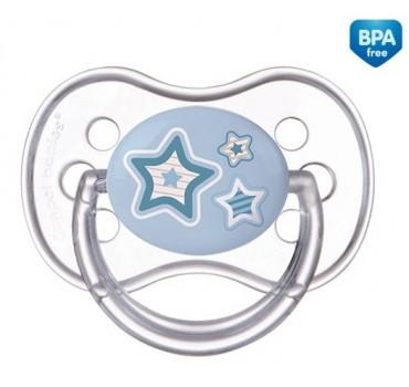 Пустышка круглая силиконовая Newborn baby, 0-6м - 22/562