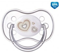 Пустышка силиконовая круглая Newborn baby 6-18м - 22/563
