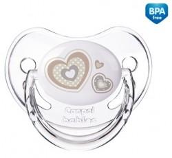 Пустышка анатомическая силиконовая Newborn baby, 0-6м - 22/565_bei