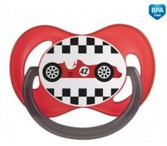 Пустышка симметричная силиконовая 6-18 м Racing - 22/572_red