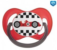Пустышка симметричная силиконовая 18+ м Racing - 22/573_red