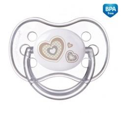 Пустышка силиконовая симметрическая Newborn baby,18+м - 22/582_bei