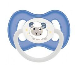 Пустышка силиконовая симметричная 6-18 м Bunny & Company - 23/269_blu, синяя