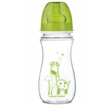Антиколиковая бутылочка с широким горлышком Цветные зверушки, 300 мл EasyStart - 35/204