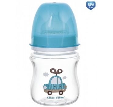 Бутылочка EasyStart Toys с широким горлышком - 35/220_blu, 120 мл