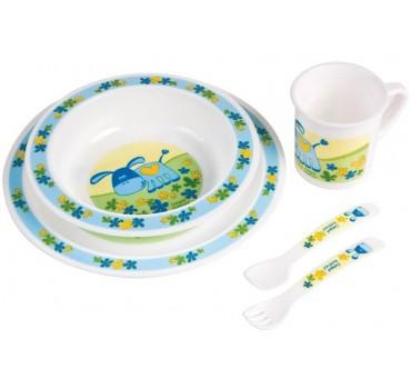 Набор посуды Smile, голубой - 4/401/2, Canpol Babies