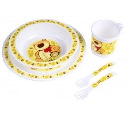 Набор посуды Smile, желтый - 4/401/3, Canpol Babies