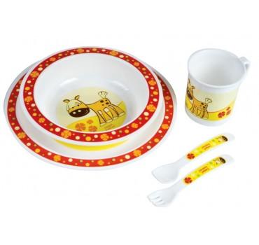 Набор посуды Smile, красный - 4/401/4, Canpol Babies