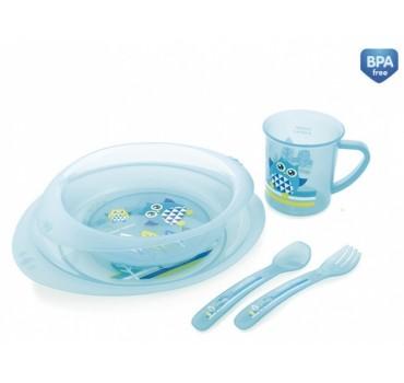 Набор посуды пластиковый Совы - 4/405