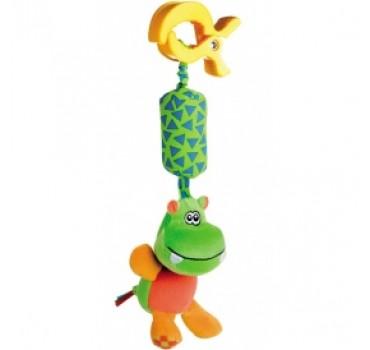 Мягкая игрушки с колокольчиком Бегемотик - 68/009/2