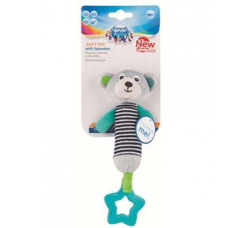 Плюшевая игрушка с пищалкой и зубогрызкой Bears - 68/055_grey