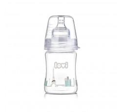 Бутылочка стеклянная LOVI Diamond glass150 мл - 74/103, Retro boy